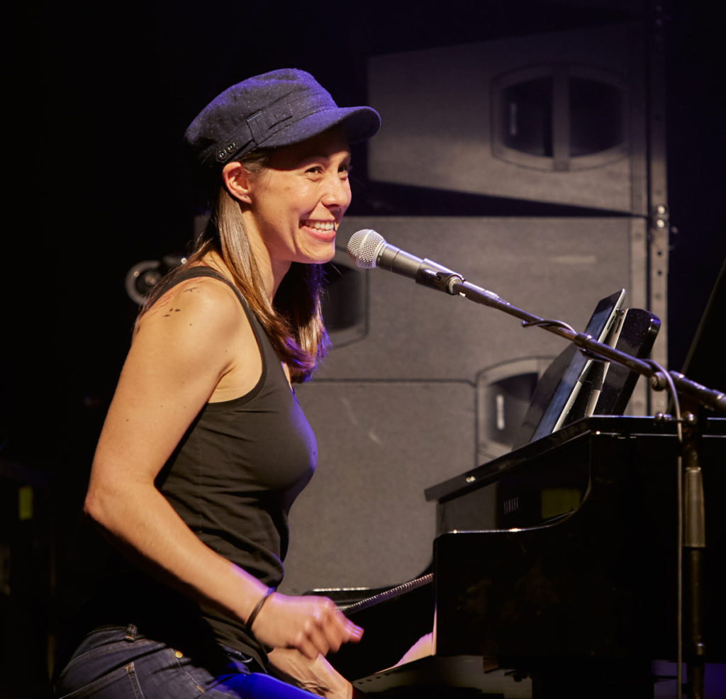 Holly Bowling played beautiful Grateful Dead Piano between set.